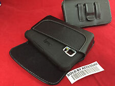 BLACK LEATHER CASE BELT CLIP POUCH FOR SAMSUNG GALAXY NOTE 5 ARMOR CASE HOLSTER