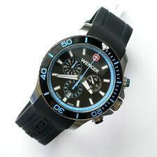 NEW $450 GENTS 43MM WENGER 643.103 BLUE CHRONOGRAPH SEA FORCE WATCH OF YEAR