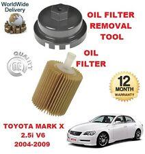 Pour Toyota Mark X 2,5 V6 2004-2009 Neuf Filtre à huile & Filtre à huile outil de suppression