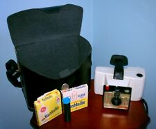 Vintage Polaroid Camera, Swinger 20 Model, with case and bulbs