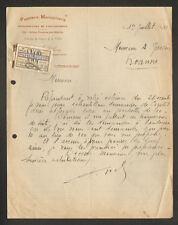 """CRAPONNE-sur-ARZON (43) CHASSE & PECHE  """"Pierre DELION"""" avec ECHANTILLON en 1933"""