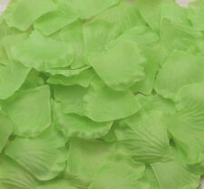 100pcs NEW Silk Flowers Rose Petals Wedding Party Floral Crafts Green
