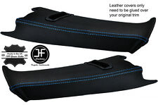 BLUE STITCH 2X REAR C PILLAR LEATHER COVERS FOR BMW E39 96-03 ESTATE TOURING