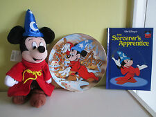 Kenleys Plate Fantasia Disney Sorcerers Apprentice Mickey Soft Toy Grolier Book