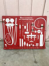 Vintage Snap On Tool Advertising Display Board Automotive Air Conditioner Holder