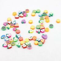 60x Fruit FIMO Polymer Clay Beads 10mm 110497 FREE P&P