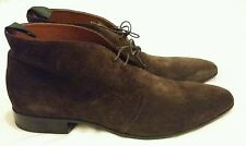 ALBERTO GUARDIANI SUEDE LACE-UP ANKLE SHOES Brown Size uk 10, eu 44
