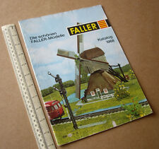 1968 Faller Catalogue - Railway, Aircraft, Slot Car, Lineside Kits. Interesting