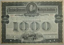 Lake Shore & Michigan Southern Railway Company Bond Stock Certificate Railroad