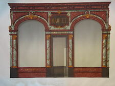 GRANDE Litho MAGASIN COMMERCE METIER VITRINE PARIS MAROQUINERIE  EP.NAPOLÉON III