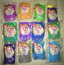 TY TEENIE Beanie Babies McDonald's 1998 SEALED  Original 12 RARE