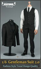 "VORTOYS 1/6 Black Men's Gentleman Suit Clothing Set F/12"" Male Action Figure"