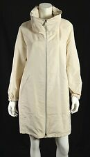 AKRIS $2,990 NWT Shell White Silk Blend Techno FAUST Zip-Front Coat 4