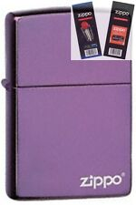Zippo 24747zl purple abyss logo Lighter with *FLINT & WICK GIFT SET*