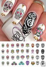 Sugar Skull Nail Art Waterslide Decals Set#2 - Featured in Rachael Ray Magazine!