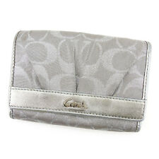 Auth  Coach L Type Fastener Wallet Signature Ladies used I438