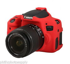 easyCover Armor Protective Skin for Canon EOS Rebel T6i Red - Free US Shipping