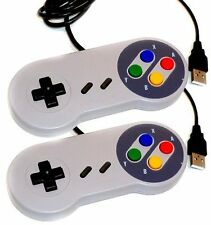 2 X Retro Super Nintendo SNES jopypads Controlador USB para Win PC/MAC gamepads