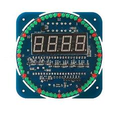 DS1302 Rotating LED Electronic Digital Clock Kit 51 SCM Learning Board 5V DIY