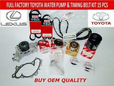 NEW TOYOTA LEXUS V6 FULL TOYOTA OEM TIMING BELT KIT 3.0 V6 3MZFE Engines