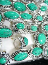 US Seller - 15 turquoise rings retro vintage fashion jewelry gemstone