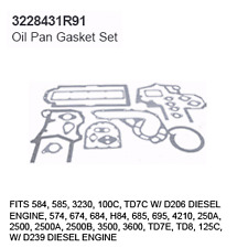 3228431R91 Case Tractor Parts Oil Pan Gasket Set IH 584, 585, 3230, 100C, TD7C D