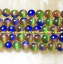 Rare 8mm Colorful Mexican Opal Gems Round Loose Beads 15''