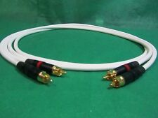 2 Ft Pair Canare L4E6S White Star Quad RCA to RCA HIFI Audio Cable.