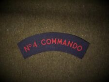 No4 Army  Commando reproduction printed badges WWII for Battledress