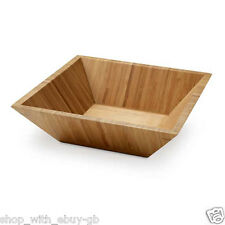 Bamboo Salad Bowl - Dining Table Kitchen Picnic BBQ Serving Wooden Healthy BN