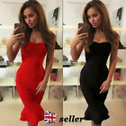 UK Sexy Womens Mermaid Bodycon Dress Ladies Cocktail Party Evening Size 6-12