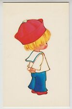 "POSTCARD - cute child boy in sailor suit, Bamforth ""Kute"" Series #G617"