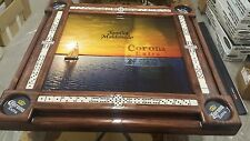 "Domino Tables by Art with Nice Corona Beer Poster and we""ll add your family name"