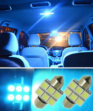 "2PCS Aqua Blue 1.25"" 31mm 6SMD DE3175 DE3022 LED Bulbs For Car Interior light US"
