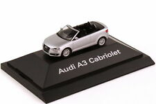 1:87 Audi A3 Cabrio 8P eissilber silber silver - Dealer-Edition OEM herpa