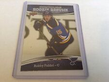 15-16 2015-16 UPPER DECK CONTOURS ROBBY FABBRI ROOKIE RESUME /999 46 BLUES