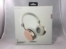 Satechi Aluminum Bluetooth Wireless Headphones with 3.5mm Jack iPhone Rose Gold