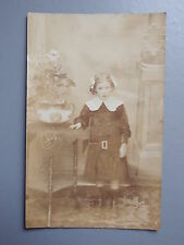 R&L Postcard: British Edwardian Girl in Dress Boots/Fashion, Real Photo