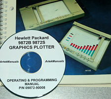 HP 9872B 9872S Graphics Plotter, Operating & PROGRAMMING Manual