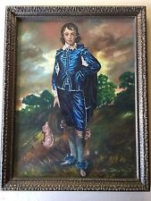 "Thomas Gainsborough ""The Blue Boy"" Reproduction Acrylic Painting by Evelyn Marie"