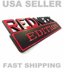 REDNECK EDITION car truck TOYOTA EMBLEM logo decal SUV SIGN ornament BLACK RED
