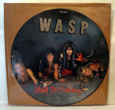 "WASP I Wanna Be Somebody 12"" Picture Disc Blackie Lawless W.A.S.P."