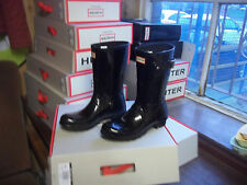 GLOSS HUNTER WELLINGTONS IN HALIFAX & BRADFORD  SIZE 5 BLACK  SHORT LADIES
