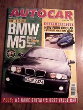 AUTOCAR MAGAZINE 13-MAY-98 - Impreza WRX STi, BMW M5 E39, Peugeot 406 Coupe 2.0