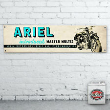 1700 x 430mm ARIEL MOTORCYCLES Banner  –  heavy duty for workshop, garage,