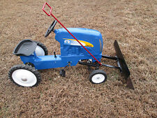 New Holland T 8040 Pedal Tractor Cast Aluminum w/ Home made Snow Plow {Restored