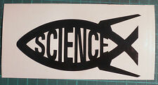 Science/ Darwin Fish x 2 Ichthys Black Vinyl Sticker, Decal, Car Bumper, Window