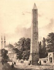 Istanbul, OBELISK of THEODOSIUS HIPPODROME ~ Old Ottoman Architecture Art Print