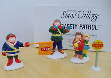 NEW Department 56 Snow Village Safety Patrol # 5449-6 School Crossing Guard Kids