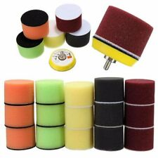 16Pcs 2 Inch 50mm Flat Polishing Buff Pad Set For Air Sander Polisher M6x1  AU